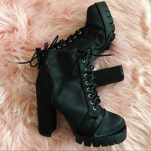 So Me Lace Up Booties